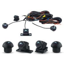 Hd 3d 360 câmera do carro pássaro sistema de visão 4 câmera 360 720p sony 225 traseira/frente/esquerda/direita 3d 360 câmera para android rádio do carro
