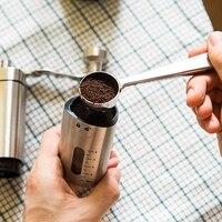 Ręczny młynek do kawy ręczny stożkowy młynek do kawy z mechanizmem ceramicznym firmy Flafster Kitchen Portable Bur ze stali nierdzewnej w Ręczne młynki do kawy od Dom i ogród na