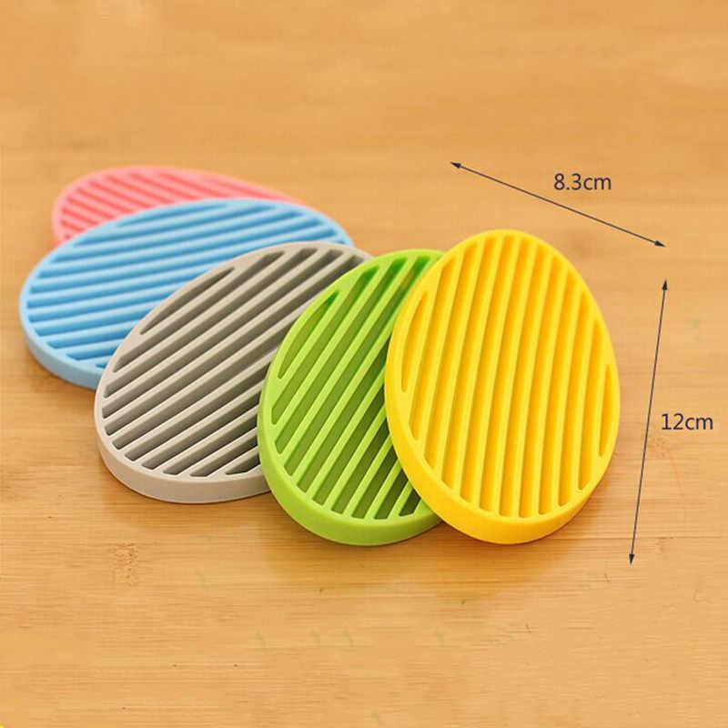 Mody silikonowy elastyczny mydelniczka płyta mydelniczka łazienkowa taca na odpady do przechowywania w domu akcesoria do przechowywania