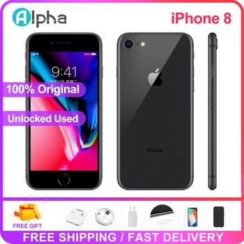 Apple iPhone 8 Used 98% New Original Unlock iPhone8 64GB/256GB 4.7 inch Hexa Core iOS Touch ID Fingerprint Mobile Phone 1821mAh 1