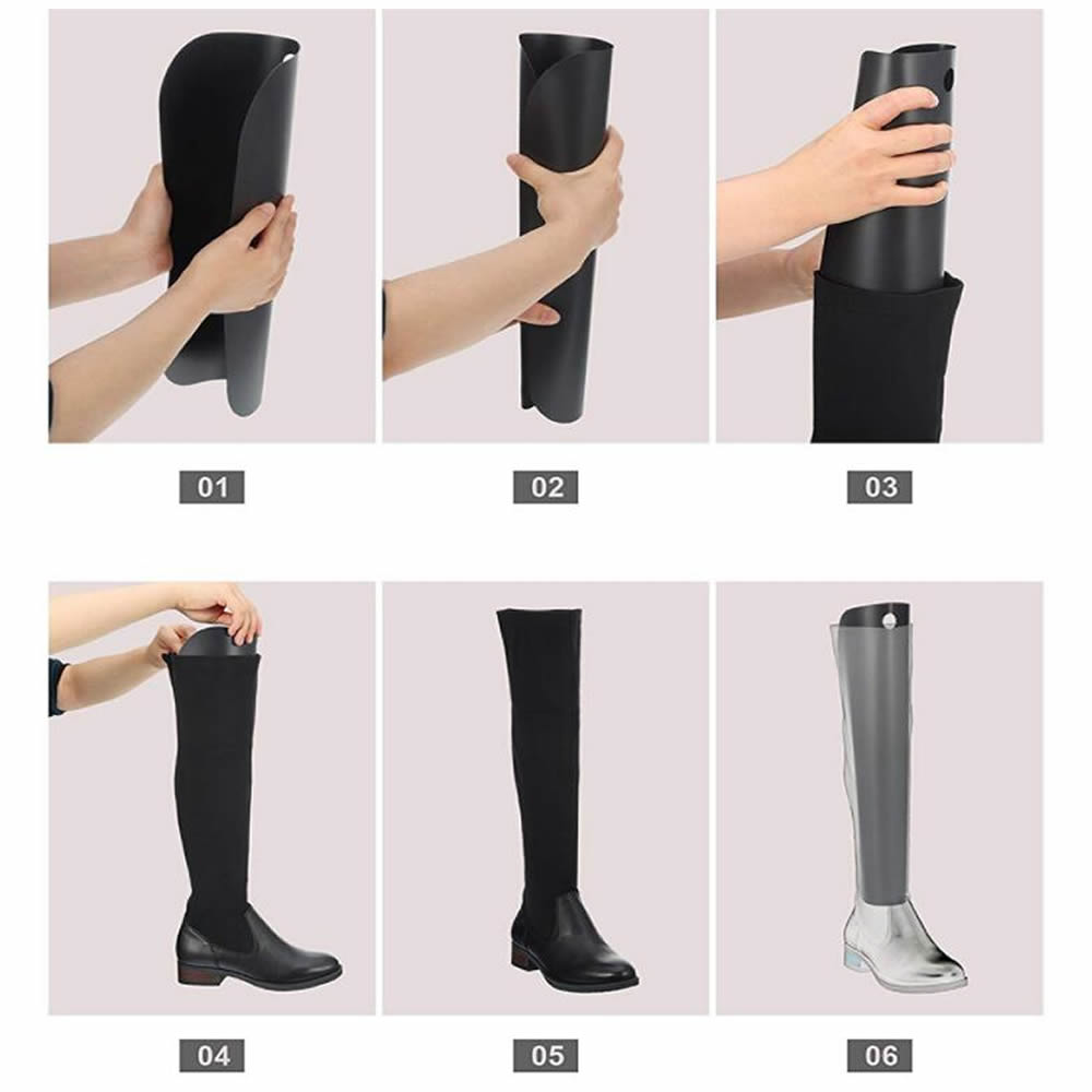 Hot  New Boot Shaper Stands Form Inserts Tall Boot Support Keep Boots Tube Shape For Women And Men 2 Pieces For 1 Pairs Of Boots