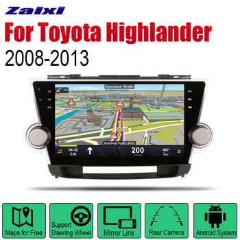 ZaiXi Android 2 Din Auto Radio For Toyota Highlander 2008~2013 Car Multimedia Player GPS Navigation System Radio Stereo