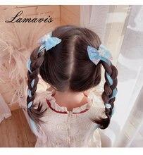 Детские парики косы вьющиеся волосы много стилей маленькие принцессы