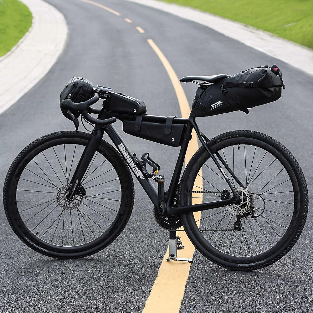Bolsa para SILLÍN de bicicleta, resistente al agua rinowalk 5L, reflectante, de gran capacidad, plegable, trasera, para ciclismo de montaña