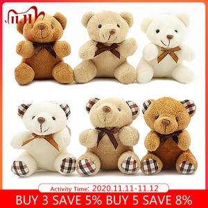 Image 1 - 8cm mini Bear Stuffed Animals Plush Toys For Children Kawaii Plush Soft Toys Keychain Baby Doll Speelgoed Christmas Gift