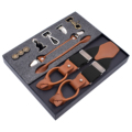 Fashion Classic Multifunction Men Genuine Leather Suspenders Suspensorio Father/Husband's Gift For Garments Accessories