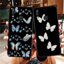 Śliczne butterfly etui na telefony dla Huawei P30 Lite P40 Lite miękka pokrywa dla Huawei P Smart 2019 P20 P10 Lite P40 P20 P30 Pro Coque tanie tanio Pół-owinięte Przypadku Soft TPU Back Cover Anti-knock Odporna na brud