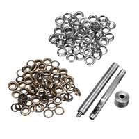 100pcs Eyelets Grommets Punch Tools Kit Leather Craft Belt Clothing Shoes Hats DIY Accessories Button Gasket Eyelets Set 6mm|Hand Tool Sets|Tools -