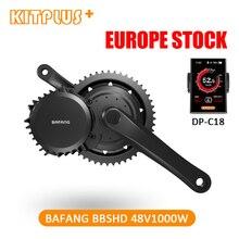 משלוח חינם Bafang BBSHD BBS03 8fun 48V 1000W Ebike מנוע Bafang אמצע כונן מנוע 68mm/100 mm/120mm ערכת המרת אופניים חשמליים