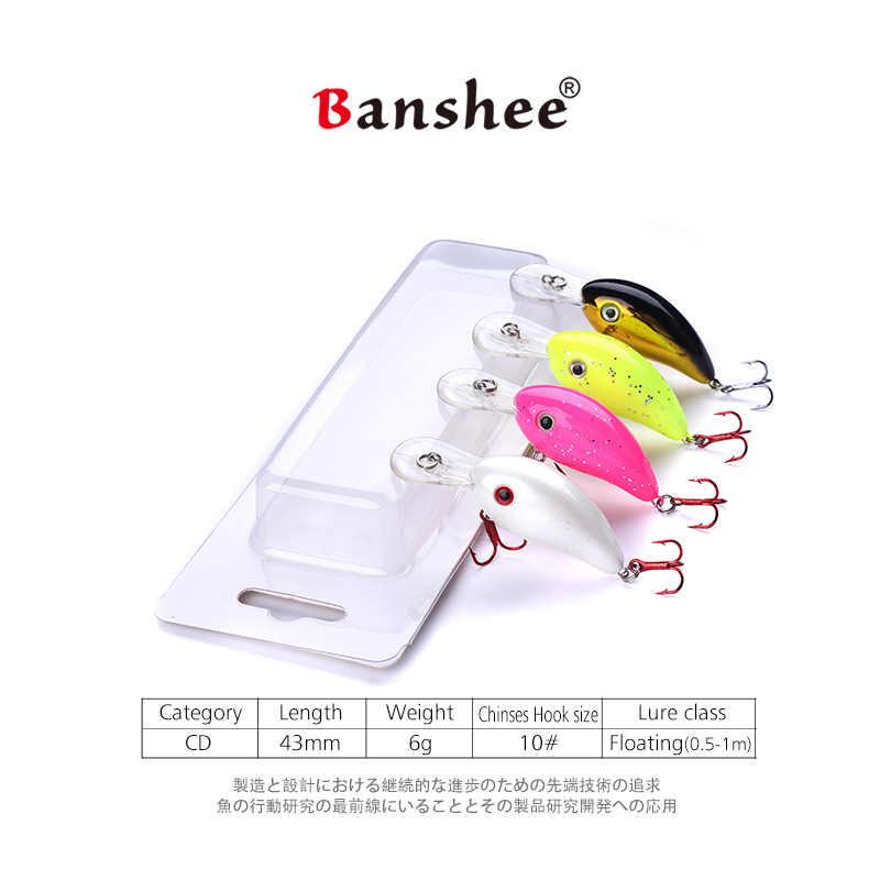 Banshee 43mm 5g Jerkbait Minnow Angeln Luresartificial Harten Köder Hecht/Bass Mini Fisch Wobbler Pesca Crankbait Karpfen angeln