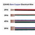 Светодиодные ленты соединительный кабель с разъемом кабеля, для детей 2, 4, 5, Шпилька 22 AWG ПВХ Удлинитель электрический провод для Динамик ауд...