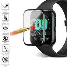Filme de vidro macio da fibra 9d para o relógio de oppo 41mm 42mm 46mm proteção da tela do relógio inteligente não vidro temperado filme macio para o relógio oppo