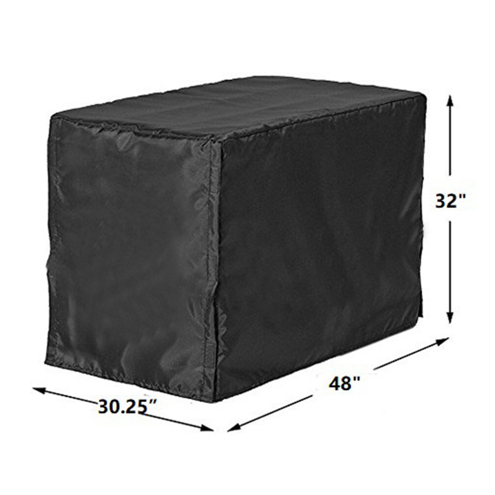 Black Outdoor 210D <font><b>Dog</b></font> Cage <font><b>Cover</b></font> Windsheild <font><b>Kennel</b></font> Dustproof Windproof Sunscreen House Foldable Water Resistance Pet Supplies image