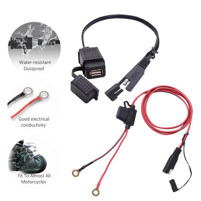 12V Waterproof Motorbike Handlebar Charger 5V 1A/2.1A Motorcycle USB Adapter Power Supply Socket For Mobile Phone