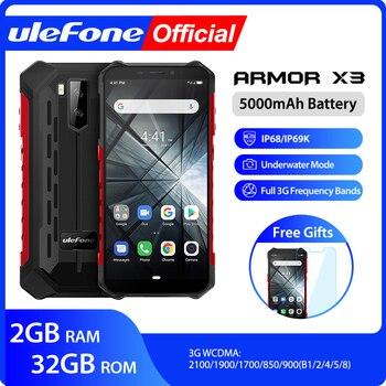 Перейти на Алиэкспресс и купить Ulefone Armor X3 Водонепроницаемый смартфон с 5,5-дюймовым дисплеем, ОЗУ 2 Гб, ПЗУ 32 ГБ, Android 9,0