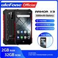 Ulefone Armor X3 ip68 Прочный Водонепроницаемый Смартфон Android 9.0 Телефон Superbattery Сотовый телефон 5.5 дюймов HD+2 ГБ 32 ГБ Телефон