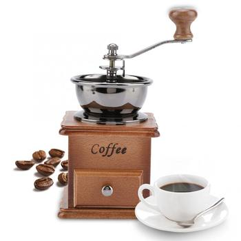 цена на Retro Design Coffee Bean Grinder Manual Mini Coffee Mill Machine Home Office Use Household Decoration