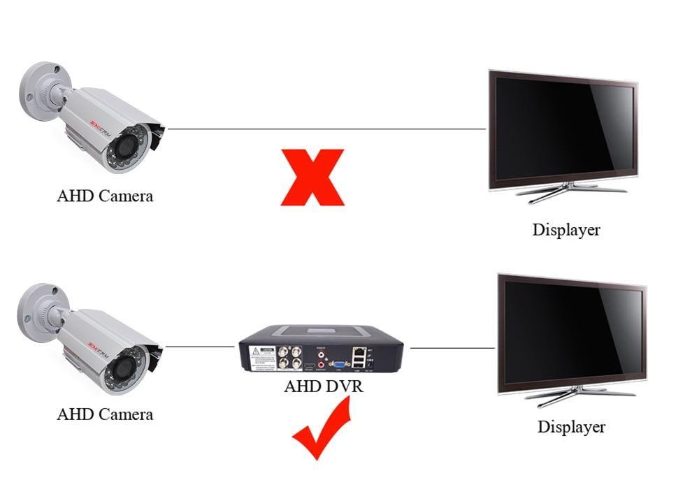 dvr infravermelho ahd 1200 tvcctv câmera sistema de segurança kit
