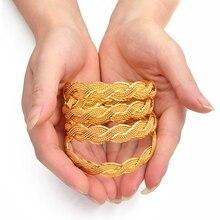 ثاث yo 4 قطع الملتوية سوار للنساء دبي أساور أساور الاثيوبية مجوهرات الأفريقية العربية الشرق الأوسط #216506