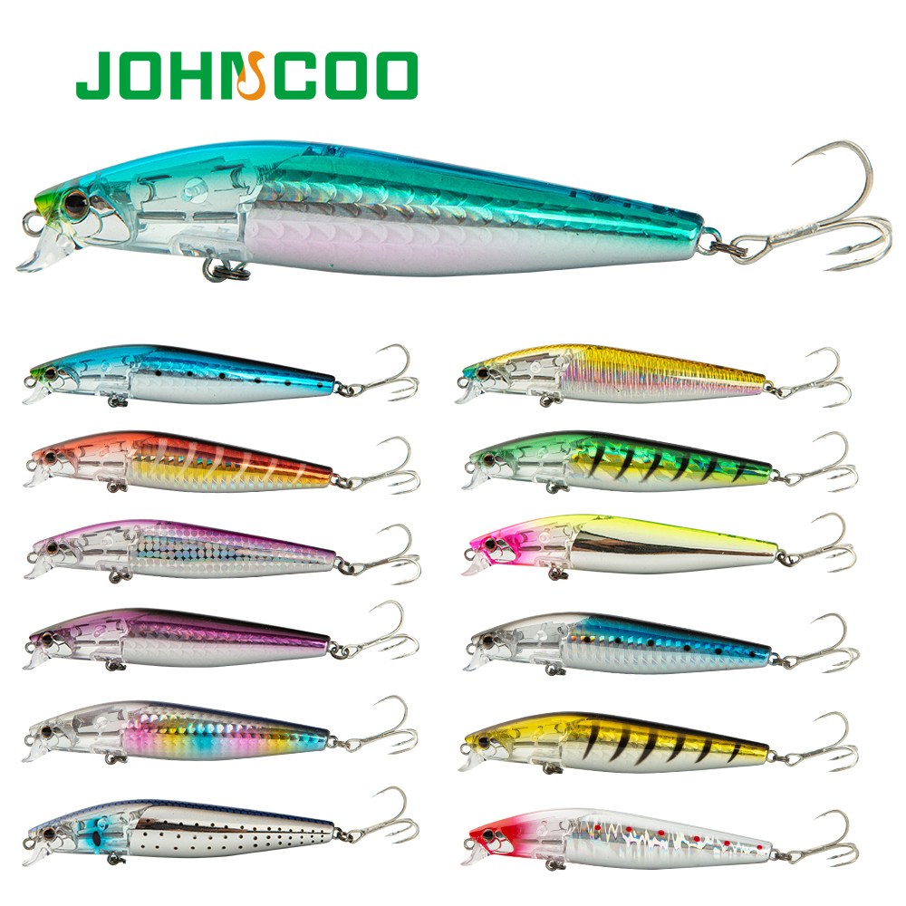 Floating Minnow 100mm 15g Tungsten Weight System Hard Bait Flash Boost Wobbler Fishing Lure SeaBass Lure High Quality
