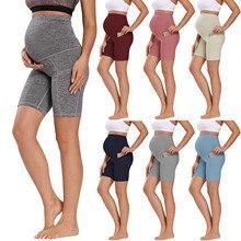 Shorts Belly Pregnant-Pants Fitness Maternity-Leggings Summer Woman Fashion Yoga Slim