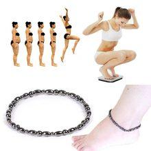 Unisex feminino moda masculina magnética preto pedra perda de peso tornozeleiras naturais brasileira preto pedra cuidados de saúde tornozeleiras