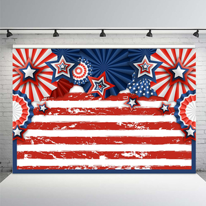Image 1 - アメリカの国旗4th月背景アメリカのレトロな木製床愛国独立記念日の写真撮影の背景