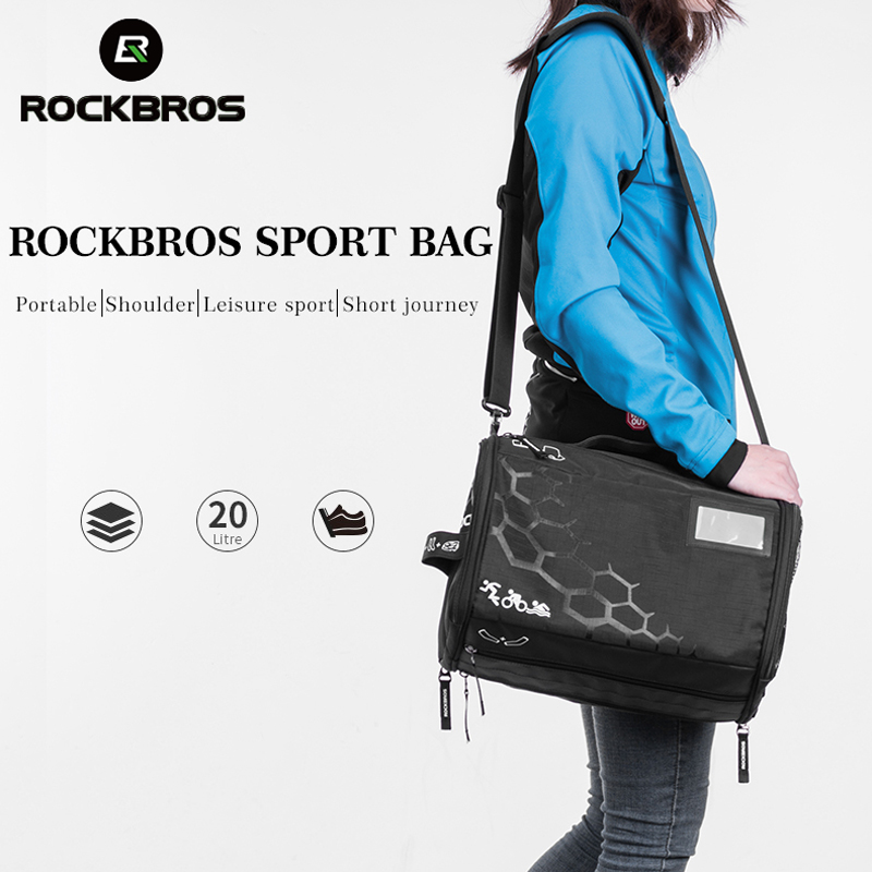 ROCKBROS Waterproof Gym Bag Fitness Travel Sport Bag Women Dry Wet Yoga Outdoor Sport Portable Extended Capacity Training Bag