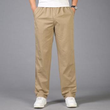 2020 Fashion Summer Men Pants Casual Cotton Long Pants Straight Joggers Male Fit Plus Size M-6XL Luxury Business Trousers Homme
