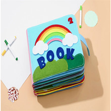 Toy Felt Fabric Quiet Book Finished DIY Craft 8 Themes Montessori Early Education Book 24X20CM Felt Pictures Book My First Boook