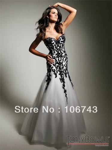 Free Shipping Formal 2015 Elegant Dress Black Lace Applique Mermaid Long Saia Social Prom Gown Homecomong Custom Evening Dresses