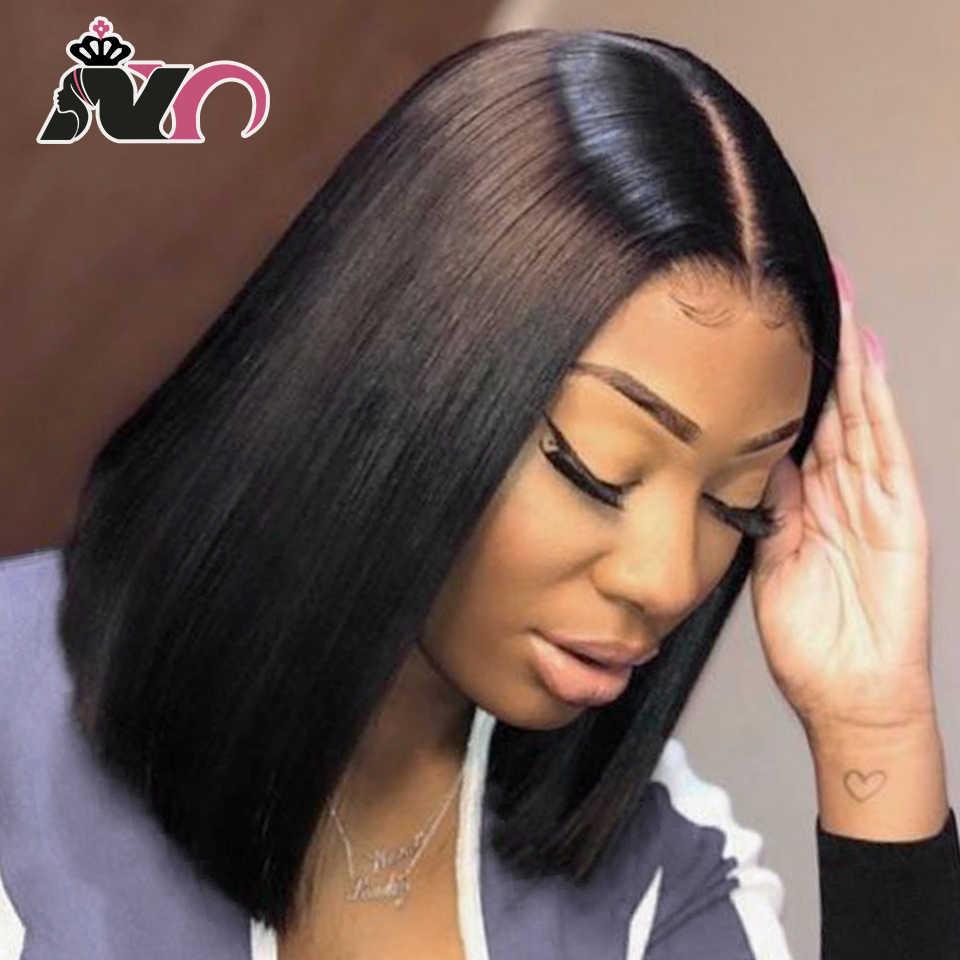 NY Haar Bob Spitze Front Perücken Brasilianische Haar 100% menschenhaar Spitze Front Perücken Gerade Bob Spitze Vorne Perücken Für schwarz Frauen