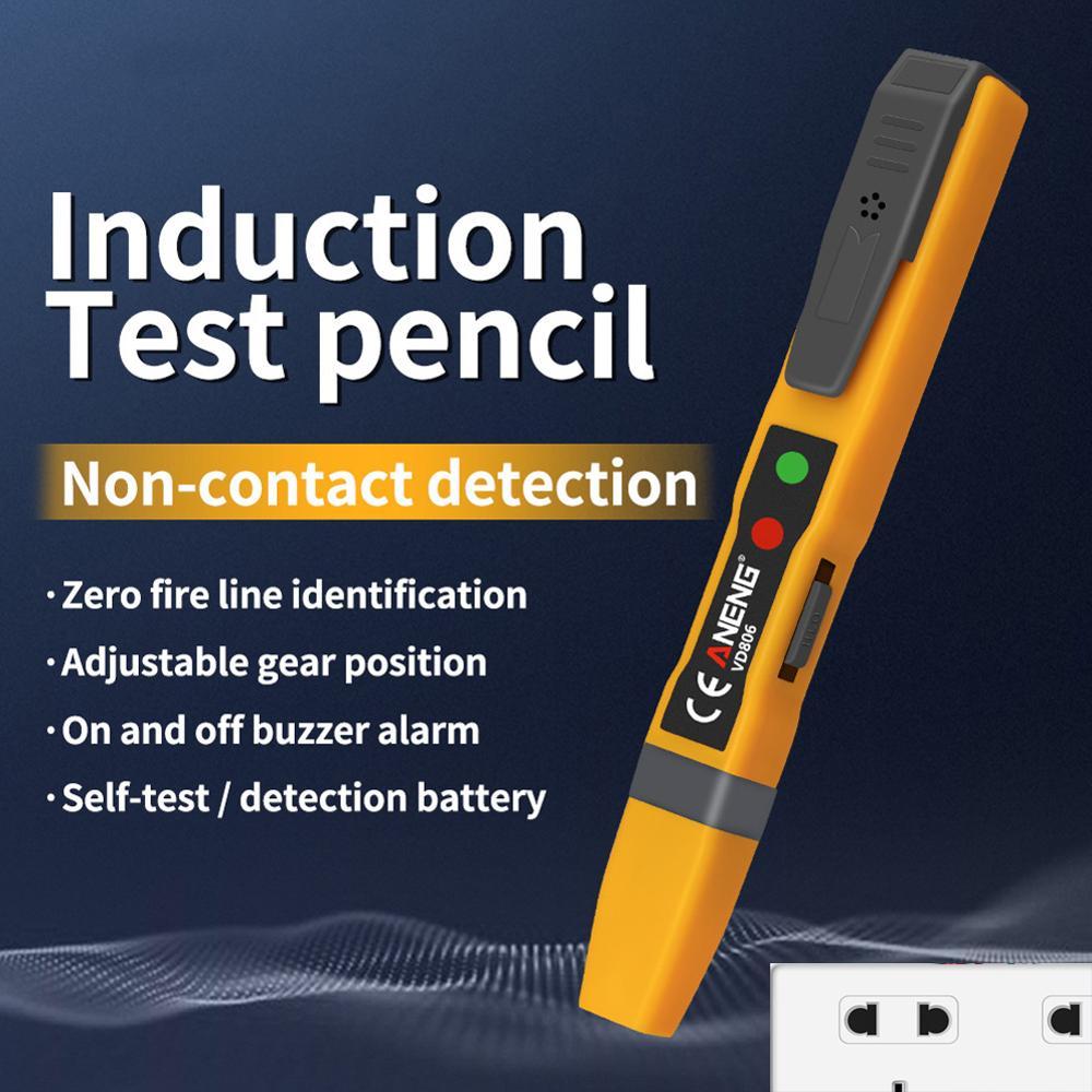 ANENG уникальный VD806 AC/DC Детектор напряжения, Электрический Бесконтактный ручка тестовый er непрерывность батареи тестовый карандаш со звуковым сигналом, светильник|Измерители напряжения|   | АлиЭкспресс