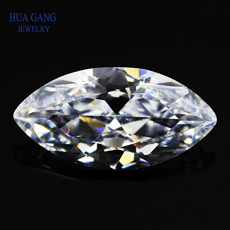 D Color 1ct Carat Moissanite Marquise Shape 5x10mm Lab Diamond DIY Material Jewelry Bracelet DIY Material Loose Moissanite image