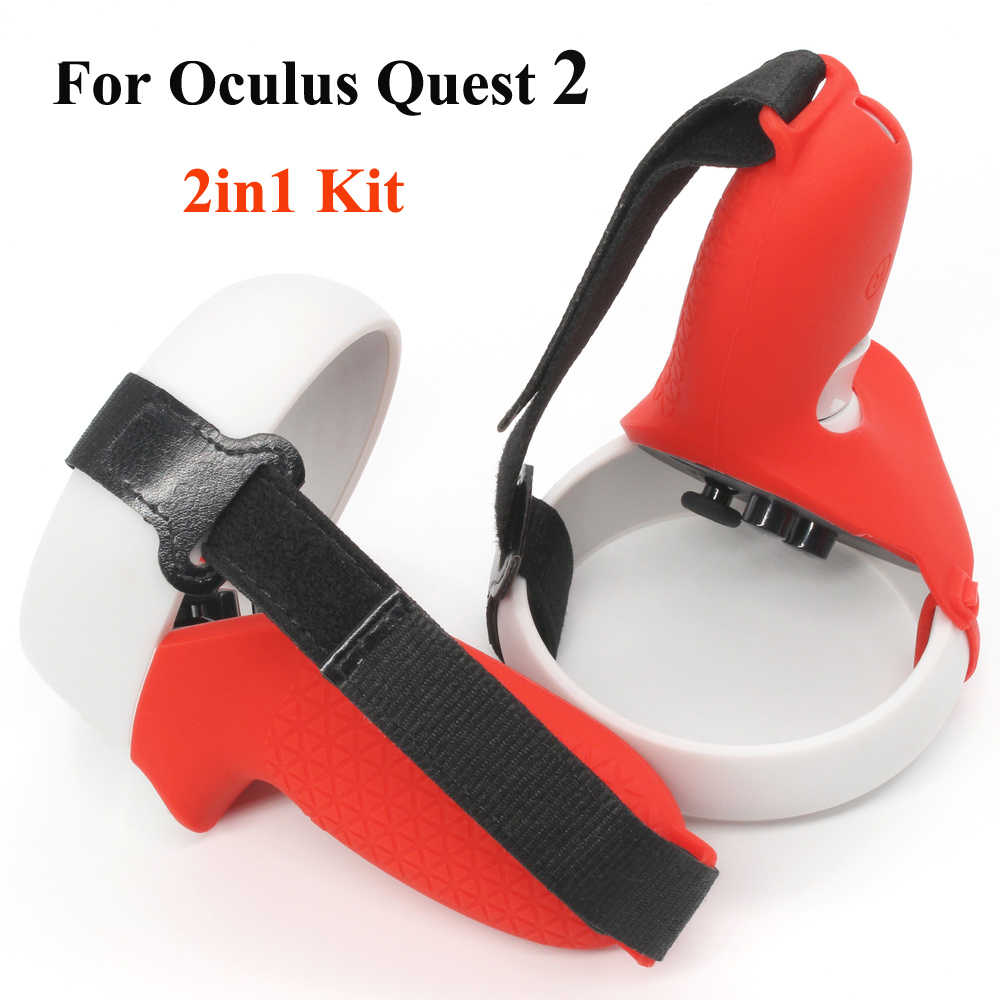 Camouflage Touch Controller Grip Cover /& Knuckle Strap for Oculus Quest 2 Touch Controller Grip Accessories with Adjustable Wrist Strap Silicone Skin Protective Cover