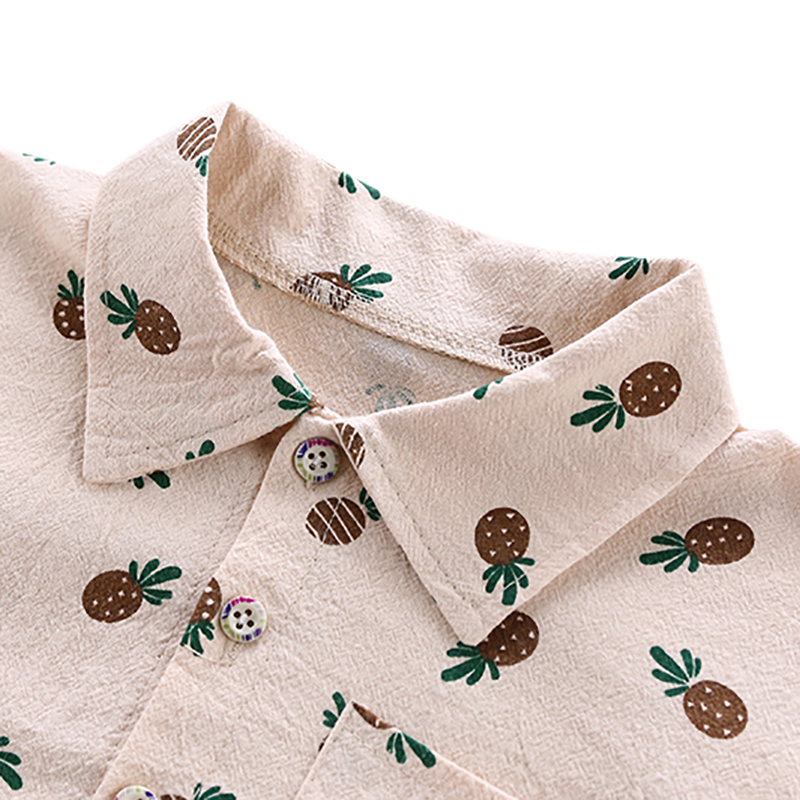 New Novel Cute Cartoon Pineapple Print Children 39 s Sets Fashion Handsome Shirt Jeans Two piece Boy Sets 1 5Y Toddler Boy Clothes in Clothing Sets from Mother amp Kids