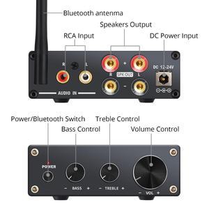 Image 2 - Neoteck amplificador de Audio estéreo Bluetooth 4,2, certificado AptX de baja latencia, amplificador clase D de alta fidelidad, amplificador integrado 50W + 50W