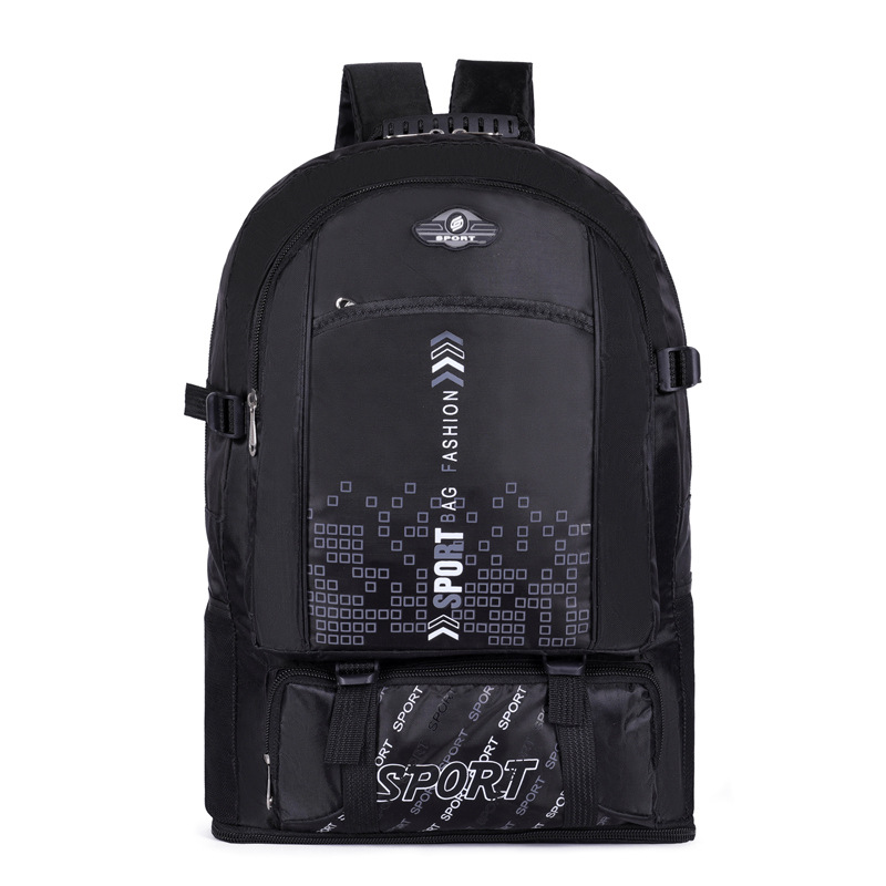 50L Fashion Men's Waterproof Big Capacity Retractable Backpack Unisex Outdoor Mountaineering Hiking Rucksack Travel Bag For Male