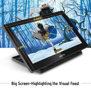 Image 3 - BOSTO BT 16HDT แบบพกพา 15.6 นิ้ว H IPS LCD กราฟิกแท็บเล็ตดิจิตอลศิลปะกราฟิกแท็บเล็ต 8192 Leverls ความดัน