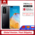 Globale Version Huawei P40 Pro 5G 8GB 256GB Kirin 990 Smartphone 50MP Quad Kameras 6.58 ''90 hz Bildschirm 40W Aufzurüsten