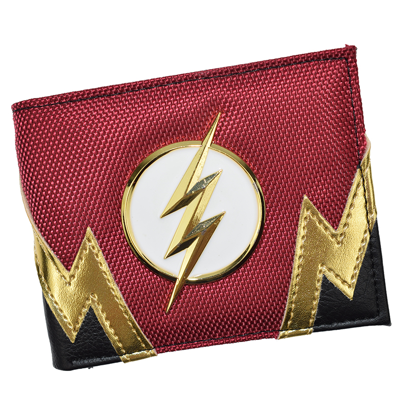 FVIP New The Flash Wallet Cool Design DC Wallets Short Purse With Coin Pocket