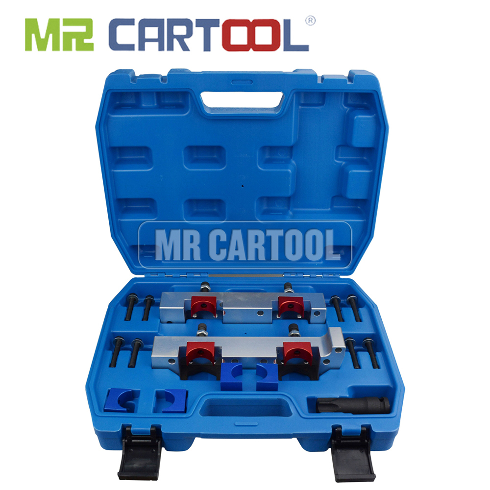 MR CARTOOL 15Pcs  Engine Timing Tool Camshaft Alignment Timing Locking Tool Kit For Mercedes Benz M133 M270 M274 Car Repair Tool