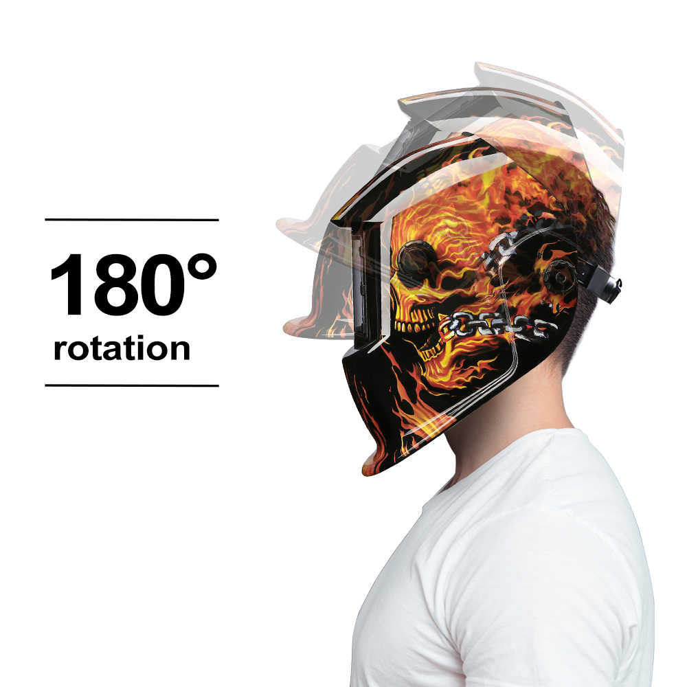 Deko máscara de solda elétrica, escurecimento automático, faixa ajustável, mig mma, capacete, lente de soldagem para máquina de soldagem