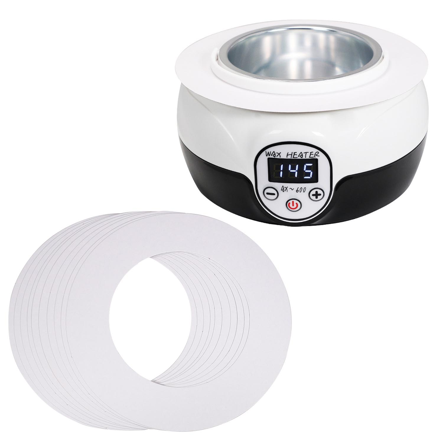 50pcs Disposable Wax Warmer Collars Body Hair Removal Accessories Wax Warmer Clean Pot Protective Collar Ring For 14oz Wax Can