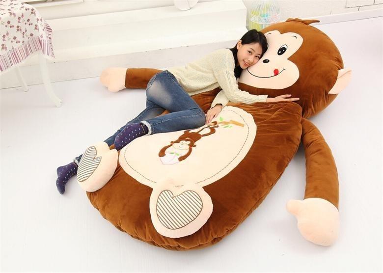 [Haut] très mignon dessin animé sac de couchage doux animal singe chat grenouille ours lit tapis Tatami canapé tapis pouf peluche jouet enfants cadeau
