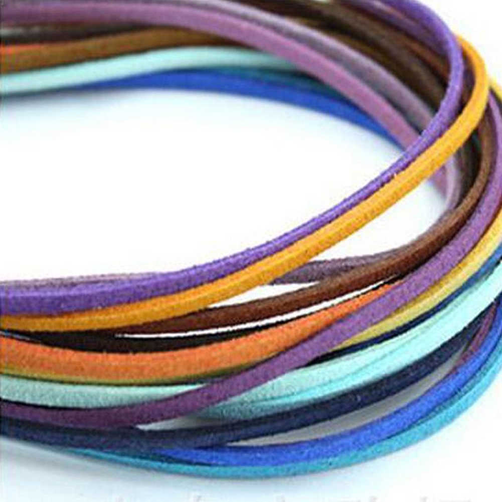 3mm plana falso camurça corda jóias fazendo pulseira diy artesanal veludo fio de couro corda natal nova chegada