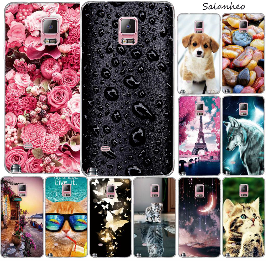 Case For Samsung Galaxy Note 4 Note4 Case Cover Silicone Soft TPU 3D Back Capa For Fundas Samsung Galaxy Note 4 N9100 Phone Case