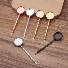 10pcs Hair Clip Hairpins 15mm Circle Bezel Tray Base Blanks Hairstyle Curly Wavy Grips Women Bobby Pins Styling Hair Accessories(China)