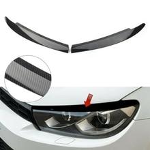 Carbon Fiber Head Light Lamp Eyebrow Eyelid Cover Trim For-Scirocco 2008-2017