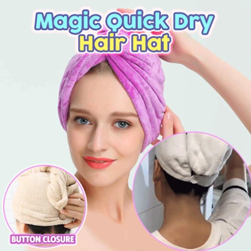 Волшебная быстрая сушка волос шляпа Женская ванная комната сверхвпитывающая микрофибра банное полотенце для волос сухая Кепка Прямая пост...